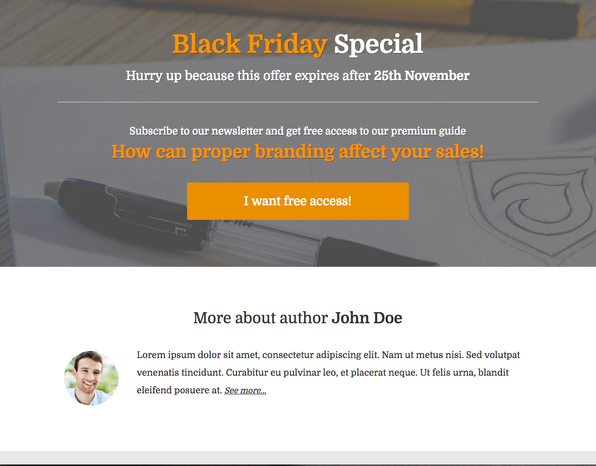 Black-Friday-Opt-in-Page